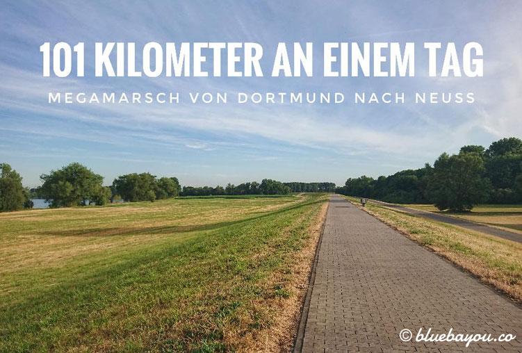 Mein privater Megamarsch: In einem Tag 101 km von Dortmund nach Neuss gehen.