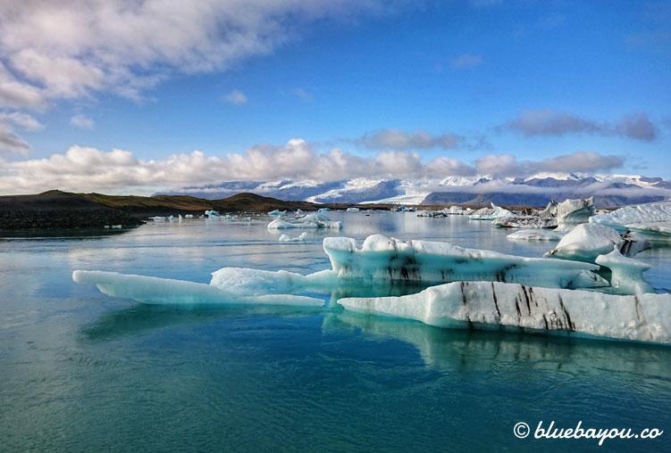 Islands Gletscherlagune Jökulsárlón als schönstes Foto der Fotoparade.