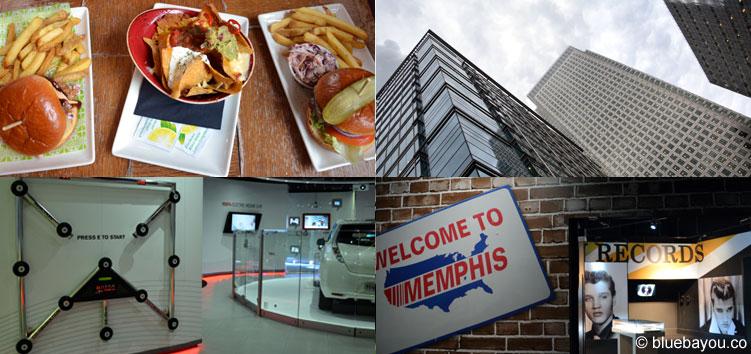 London: Restaurant, Hochhäuser, Nissan Innovation Station und Elvis at the o2.