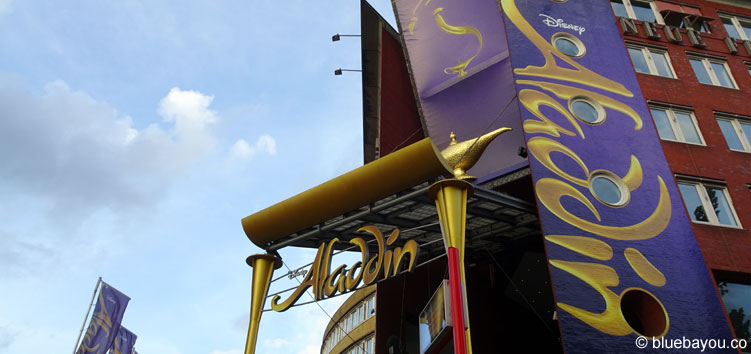 "Disneys Aladdin in Hamburg im Theater ""Neue Flora""."