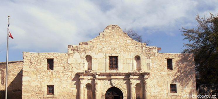 The Alamo: die bekannte ehemalige Missionsstation in San Antonio, Texas.