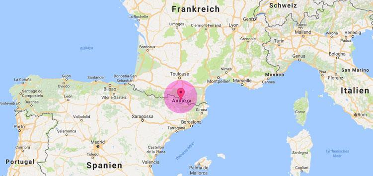 Andorra ist einer von sechs europäischen Zwergstaaten und liegt zwischen Spanien und Frankreich.