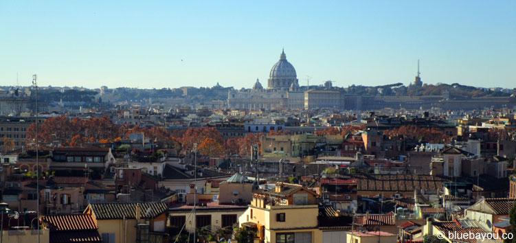 Ausblick auf Rom und den Vatikan.