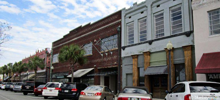 Downtown Brunswick: Eine der größeren Städte Georgias an der Atlantikküste.
