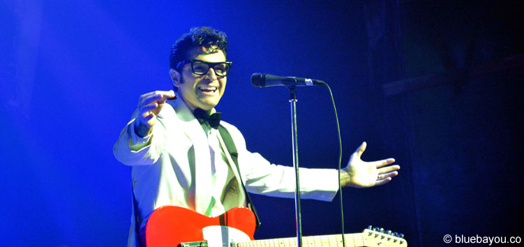Dean Z als Buddy Holly während der Elvis Week 2015.