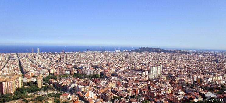 Ausblick über Barcelona von den Bunkers del Carmel aus.
