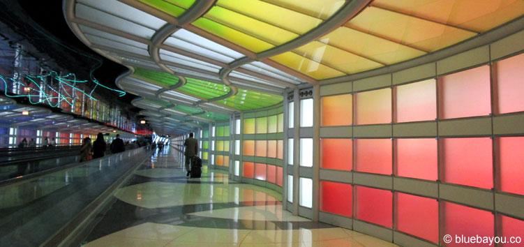 Ein Gang des Chicago O'Hare International Airport.