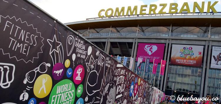 Die Commerzbank Arena in Frankfurt: hier findet der World Fitness Day statt.