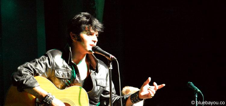 Dean Z am 9. August 2015 während der Elvis Week im New Daisy Theater Memphis.