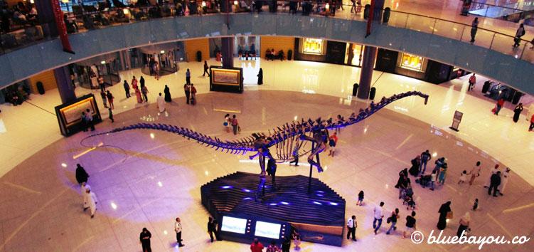 Die Mall of Dubai an Tag 2 der halben Weltreise.