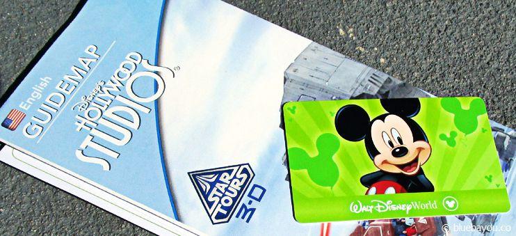 Eins meiner zwei Park Hopper Tickets, das mir für Walt Disney World Orlando geschenkt wurde.