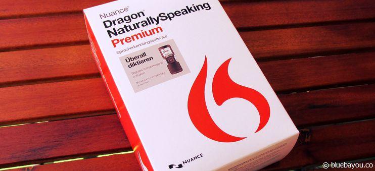 Dragon NaturallySpeaking Premium Mobile Software Version 13 - so sieht die Verpackung aus - klein und bis oben hin gefüllt.