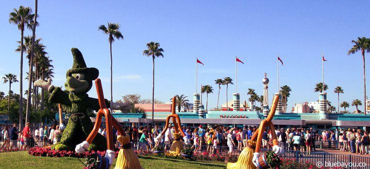Der Eingang der Hollywood Studios in Walt Disney World in Orlando, Florida.