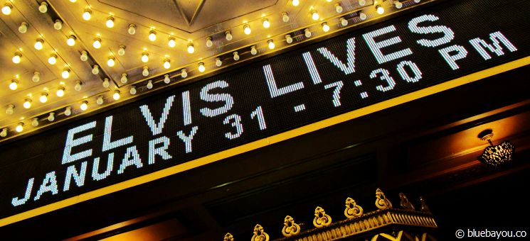 Elvis Lives on Tour im Fox Theatre in Atlanta, Georgia.