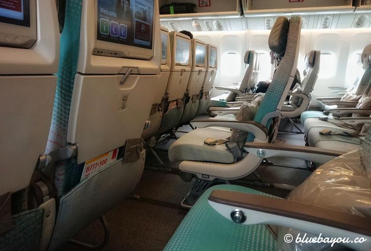 Mein Ausblick während des Rückflugs nach Frankfurt im Emirates-Flieger: pure Entspannung.