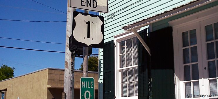 Das Ende der U.S. Route 1 in Key West: Meile 0.
