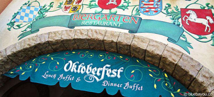 Epcot Themenpark in Walt Disney World Orlando: Das Biergarten-Restaurant im deutschen Länderpavillon.