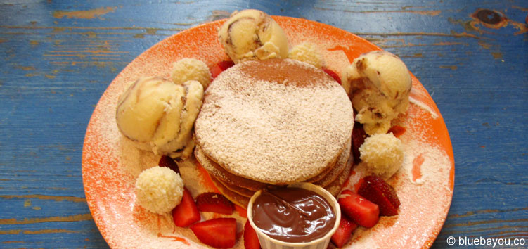 """Pancakes bei """"My Old Dutch"""" in London."""