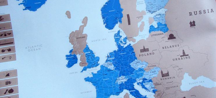 Die Rubbel-Europakarte von Luckies überzeugt mit super Qualität!