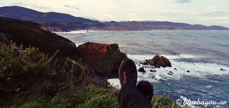 Faro de Busto: kurze Pause am Morgen mit Blick auf das Meer.
