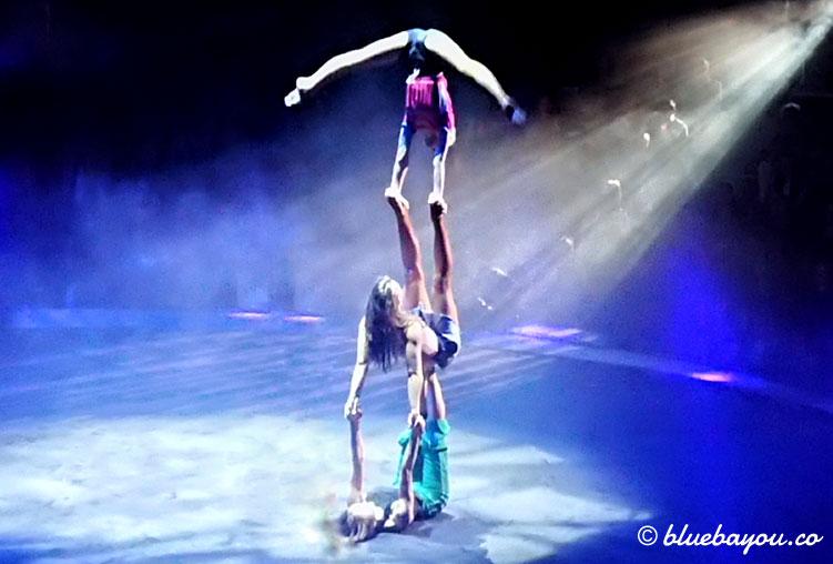 Das ukrainische Equilibristik-Trio bringt die Zuschauer bei Flic Flac zum Staunen.
