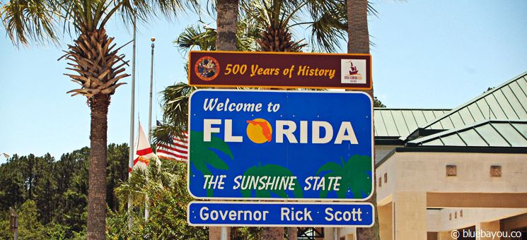 State Sign Florida: The Sunshine State.
