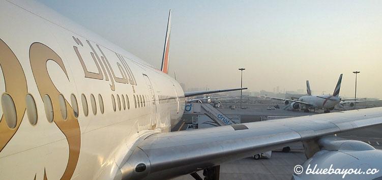 Das Around-the-World-Ticket umfasste Flüge mit Emirates, Quantas Airways und Virgin Australia.