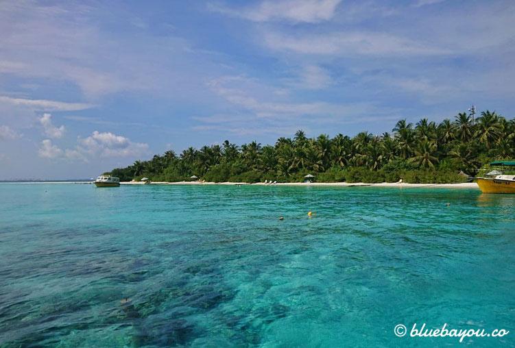 Aussicht vom Meer aus auf meine Insel während des Lockdowns.