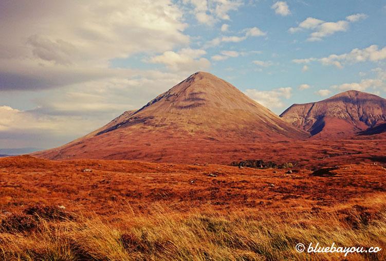 Fotoparade Berge - Zusatzbild: Rot-braune Berge in Schottland.