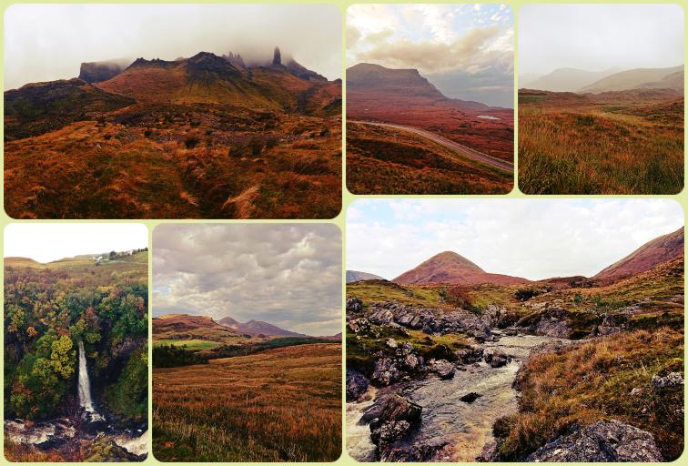Fotoparade Collage Schottland: Einige wenige Eindrücke der schottischen Traumlandschaften.