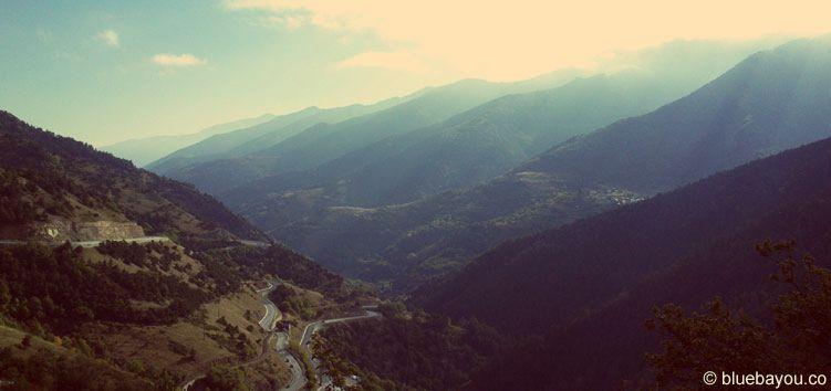 Zusatzkategorie Berge: Blick auf die Berge in Frankreich, kurz vor Andorra.