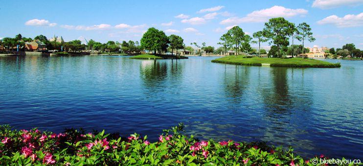 Frühling im Disney-Themenpark Epcot in Florida.