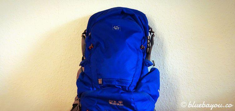 Mein Jack-Wolfskin-Rucksack Moab Jam 30 für den Jakobsweg in Spanien: er wiegt insgesamt unter 5 Kilogramm.
