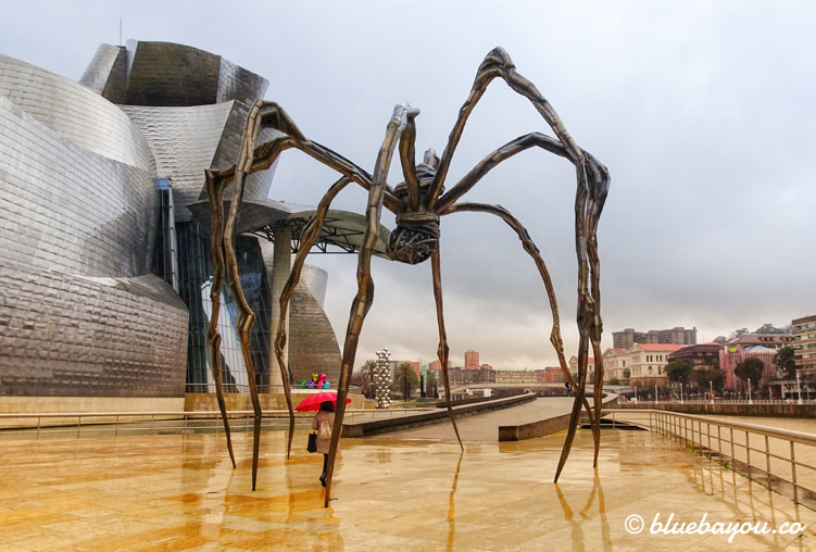 Spinne vor dem Guggenheim-Museum in Bilbao.