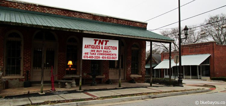 The Walking Dead Location in Sharpsburg, Georgia: Die Bar, in der Hershel, Rick und Glenn nach dem Vorfall an der Scheune sitzen.