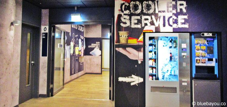 Die Lobby des ibis budget Berlin Kurfürstendamm.