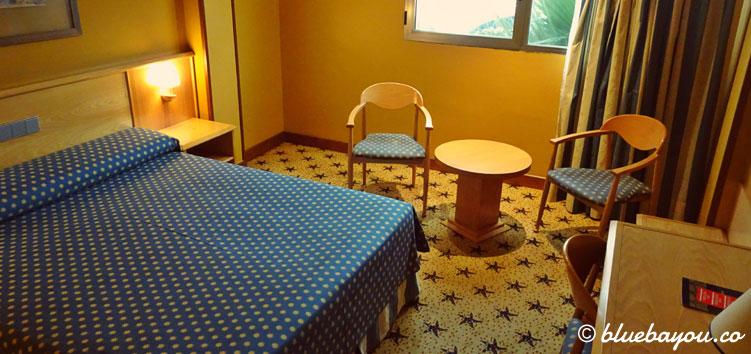 Mein Hotelzimmer auf dem Jakobsweg in Isla Playa.