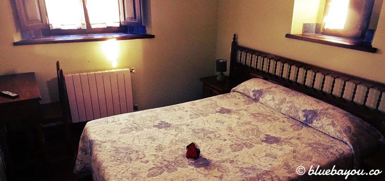 Mein Hotelzimmer in Toñanes.