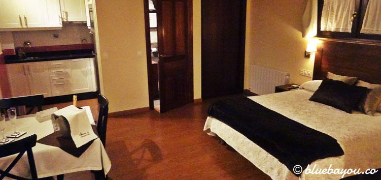 Mein Hotelzimmer bzw. Apartment in Llanorrozo.
