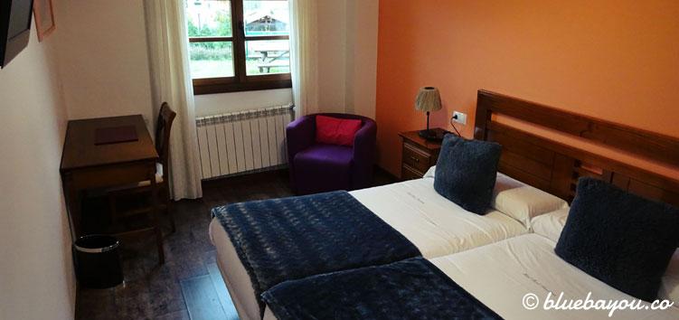 Hotelzimmer in Soto del Barco auf meinem Jakobsweg.