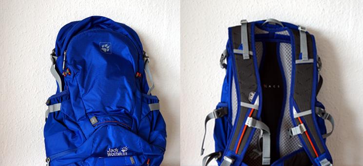 Mein neuer Rucksack: der Jack Wolfskin Moab Jam 30 in leuchtendem Blau.