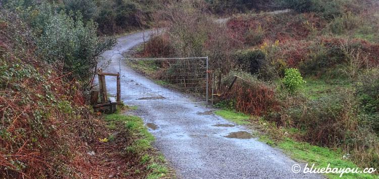 Gesperrter Weg und damit ein erneuter Umweg auf meinem Jakobsweg in Spanien.