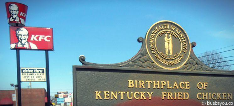Das Harland Sanders Café and Museum - der Geburtsort von KFC in Corbin, Kentucky.