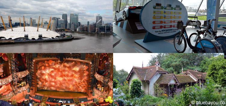 London: Emirates-Seilbahn, The Crystal, Disney's König der Löwen und ein gemütliches Haus.