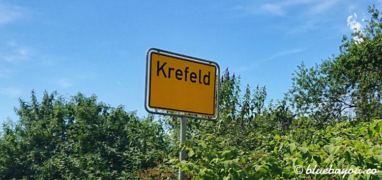 Krefeld: rund 3/4 der Strecke liegen hier hinter mir, womit ich also die körperliche Halbzeit knacke.