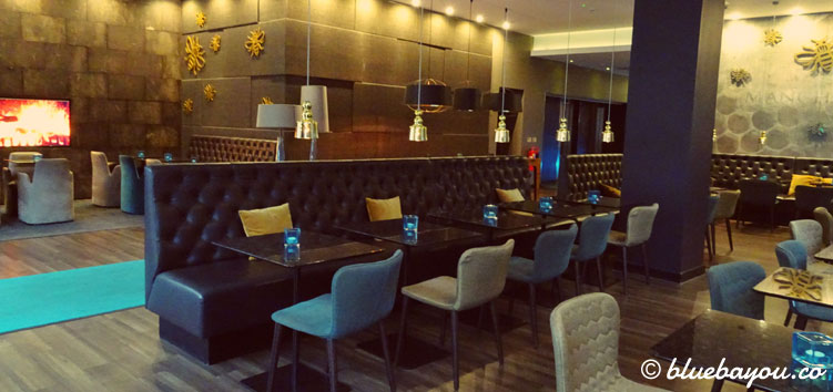 Die One Lounge des Motel One Manchester-Piccadilly in England.