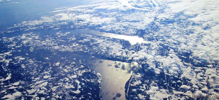 Blick auf das verschneite Neufundland.