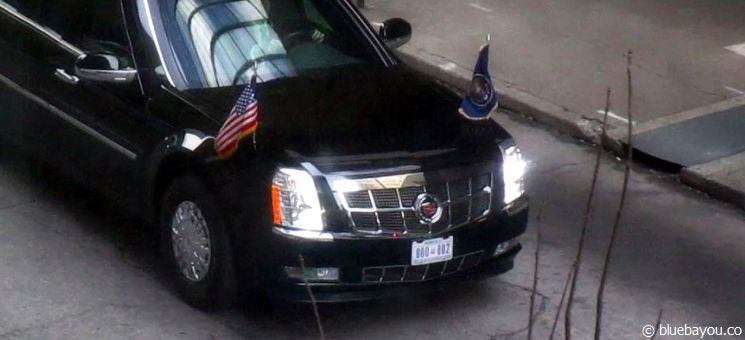 "Das ""Presidential state car"" in Atlanta."