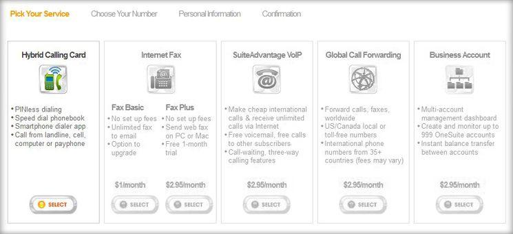 Beim Anmelden auf onesuite.com wählst Du ganz links den gratis Account aus.