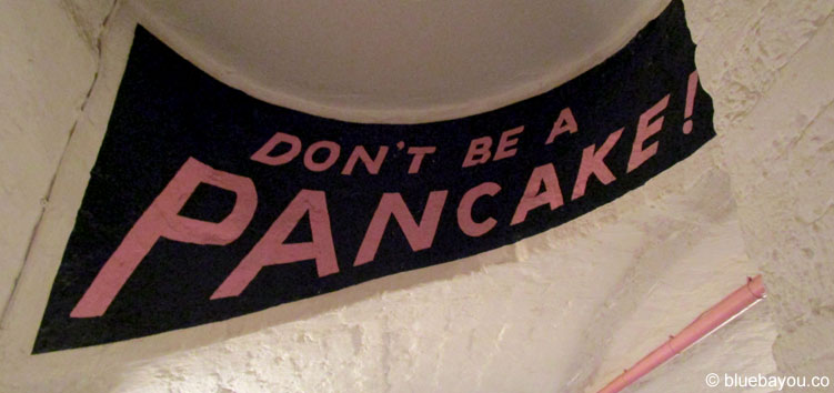 "Crème de la Crêpe in London: Das Motto ist ""Don't be a Pancake""."